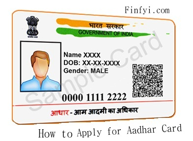 Apply for Aadhar Card