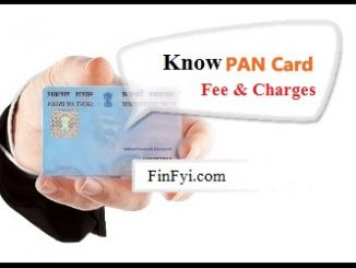 PAN Card Fee Charges