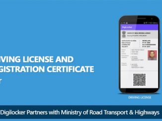 driving license and registration certificate in Digital Locker